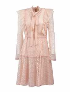 Picture of Giamba | Lace Embroidered Flared Dress