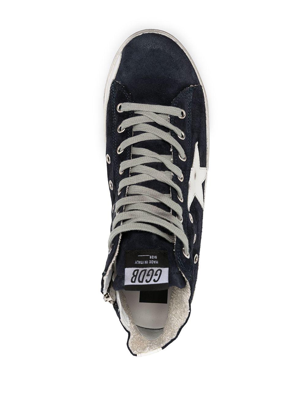 Picture of Golden Goose Deluxe Brand   Francy Hi-Top Sneakers
