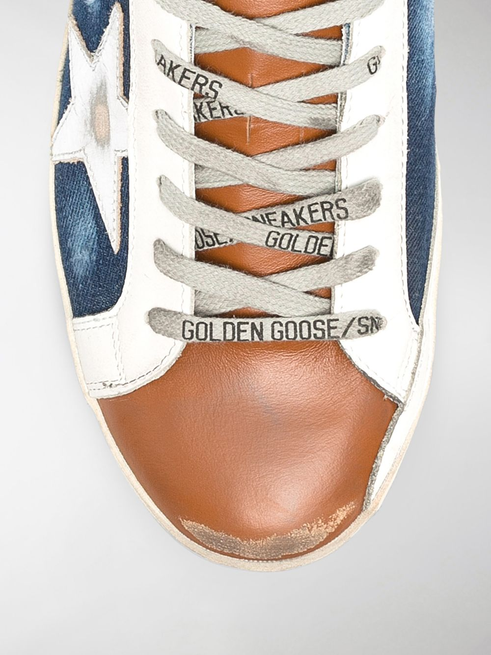 Picture of Golden Goose Deluxe Brand   Superstar Panelled Low-Top Sneakers