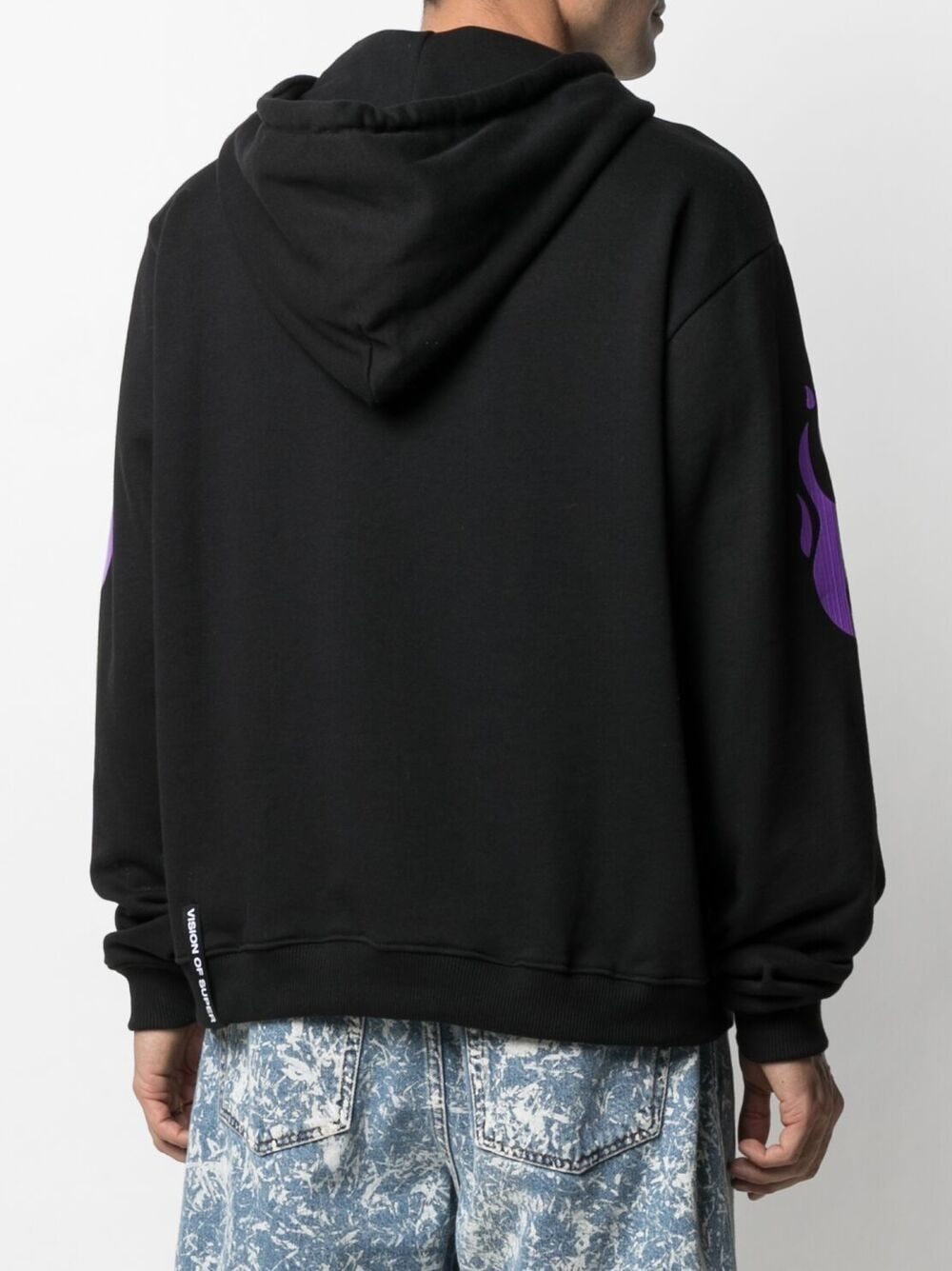 Picture of Vision Of Super | Flame-Print Hoodie