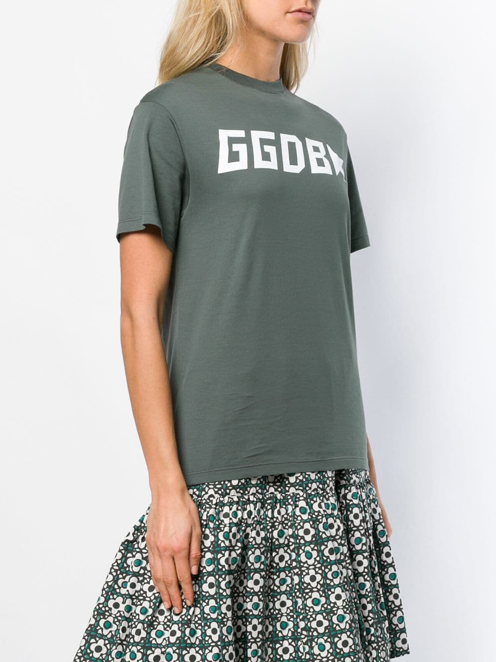 Picture of Golden Goose Deluxe Brand | Upside-Down Logo T-Shirt