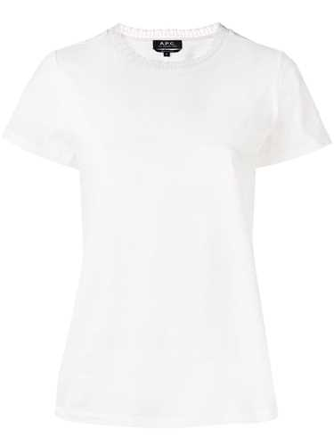 Picture of A.P.C. | Lace-Trim Fitted T-Shirt