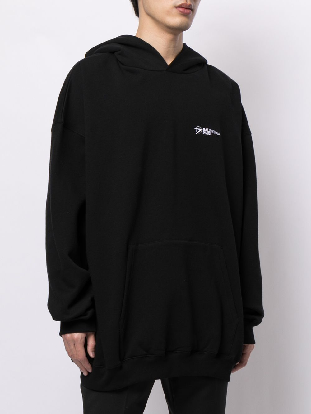 Picture of Balenciaga   Embroidered Logo Cotton Hoodie