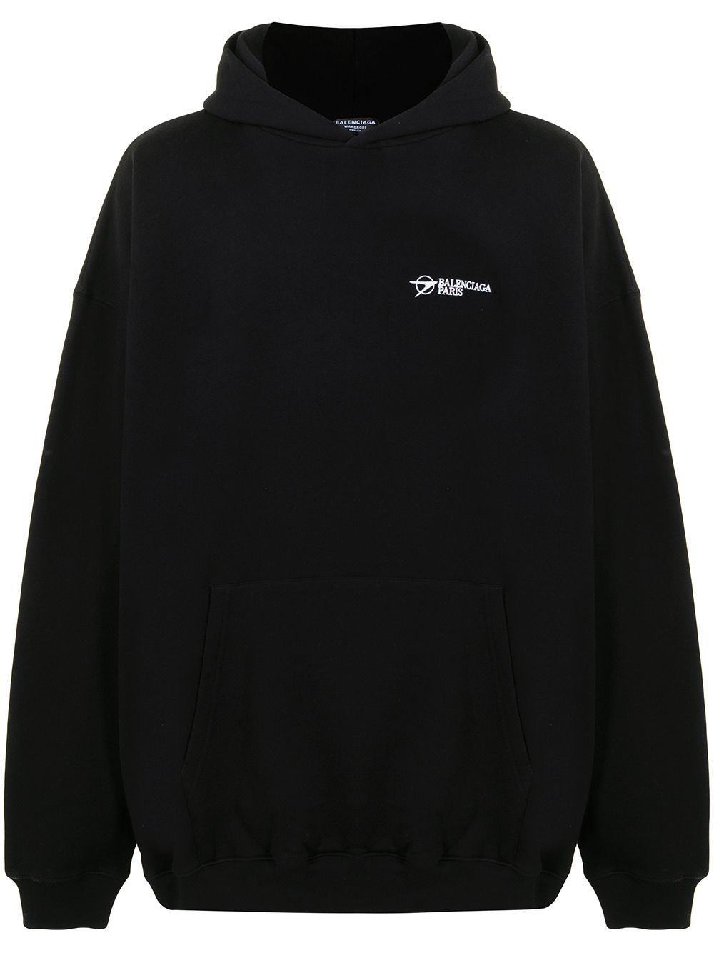 Picture of Balenciaga | Embroidered Logo Cotton Hoodie