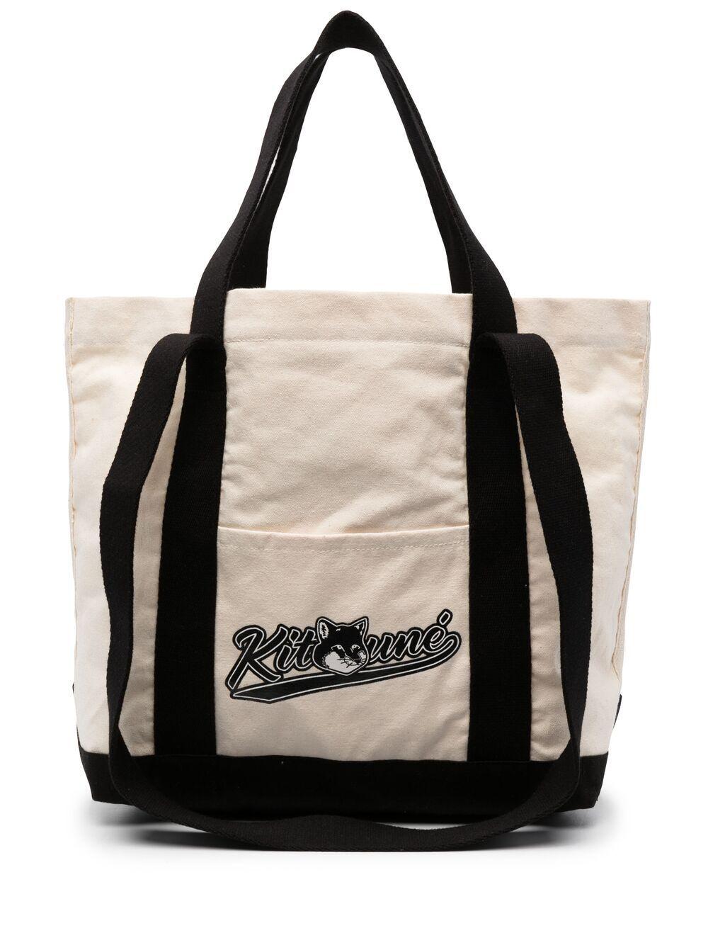 Picture of Maison Kitsune` | Logo-Print Tote