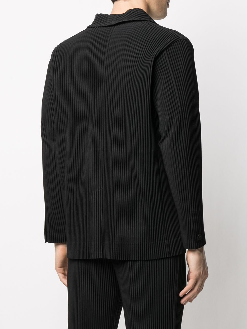 Picture of Homme Plisse` | Pleated Single-Breasted Blazer