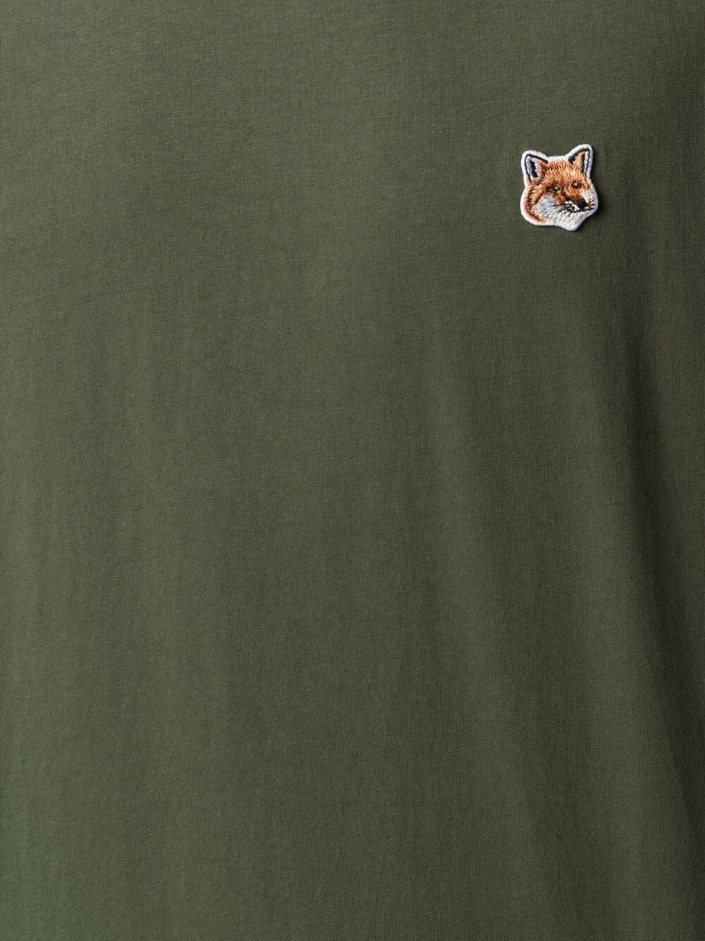 Picture of Maison Kitsune` | Fox-Patch Cotton T-Shirt