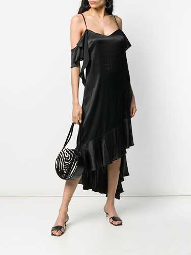 Picture of Semicouture | Off-Shoulder Drape Dress