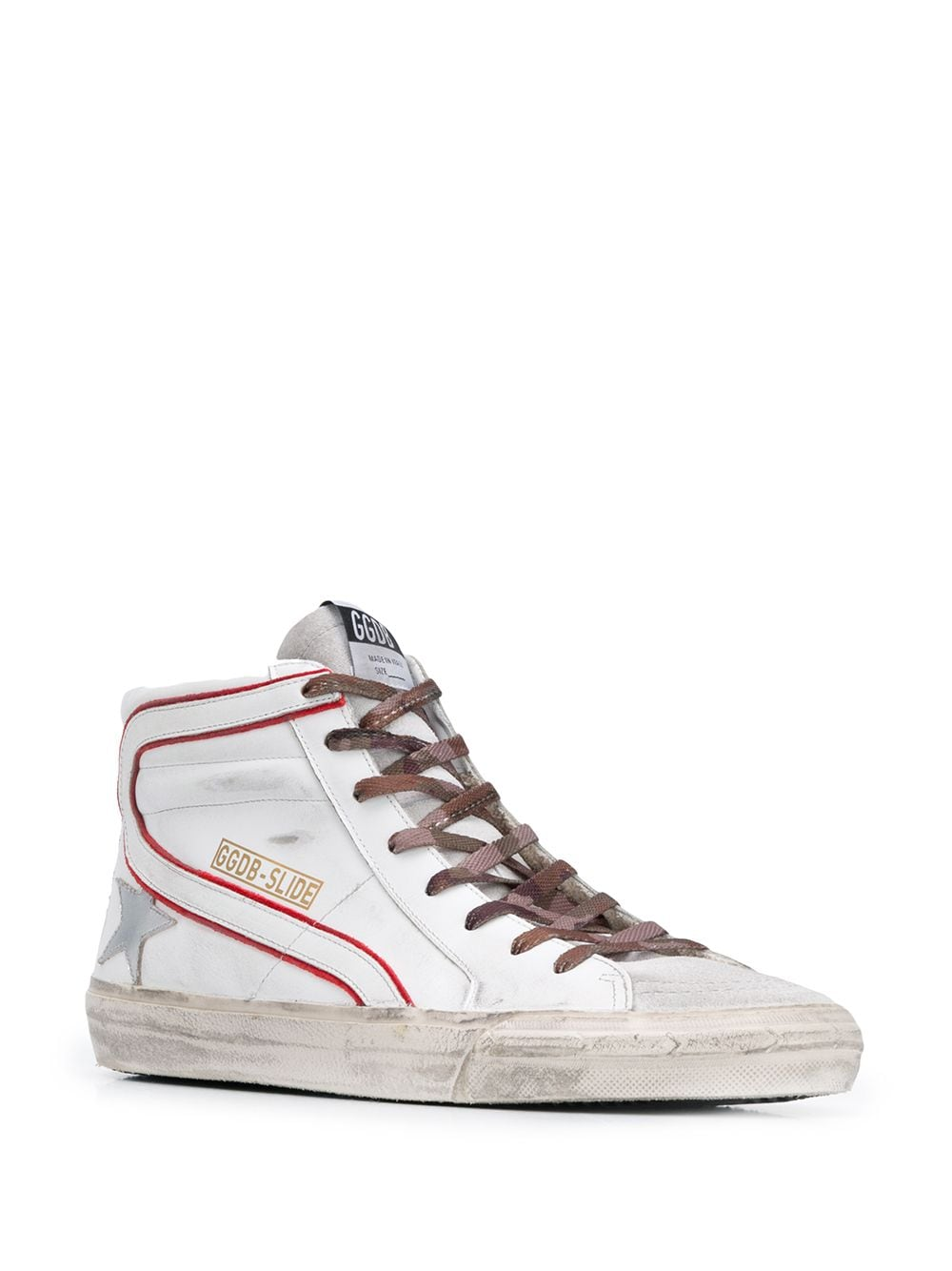 Picture of Golden Goose Deluxe Brand | Slide High-Top Sneakers