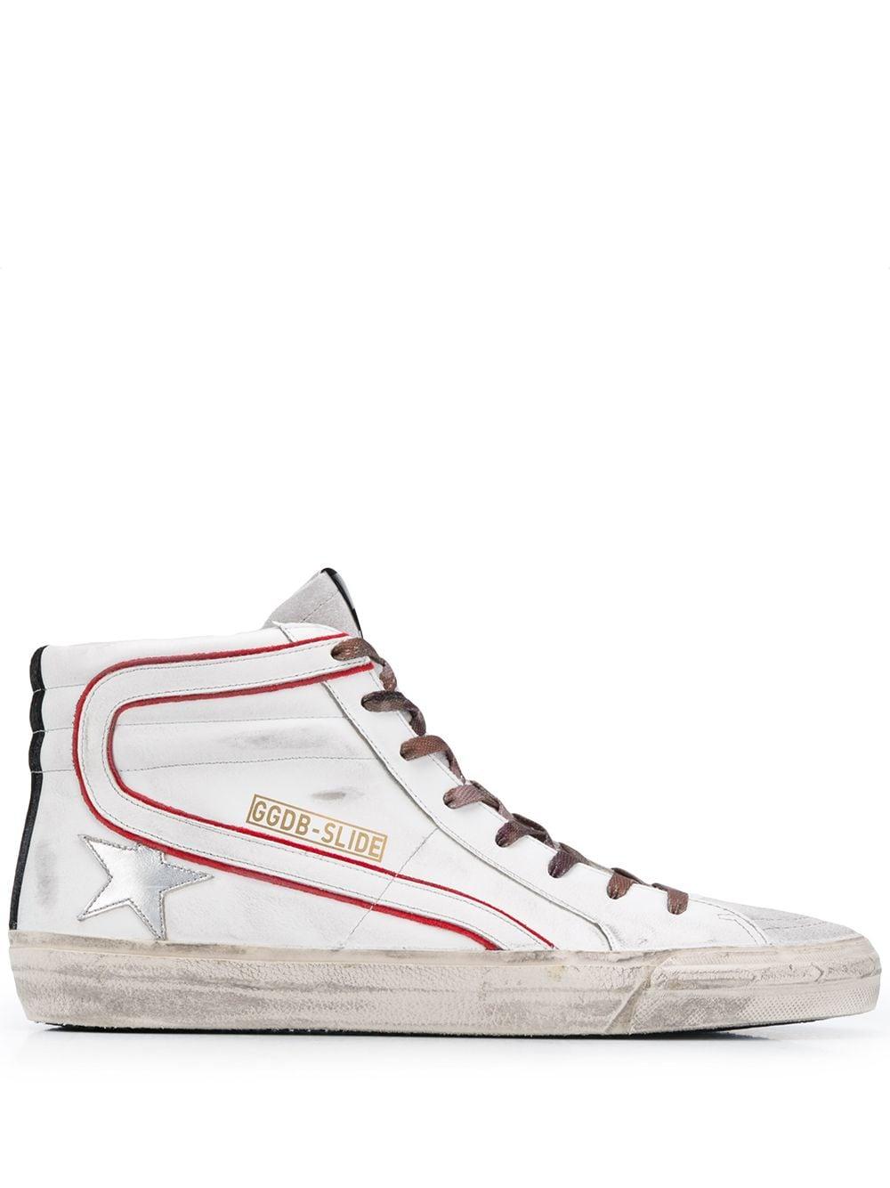 Picture of Golden Goose Deluxe Brand | Slide High-Top Sneakers