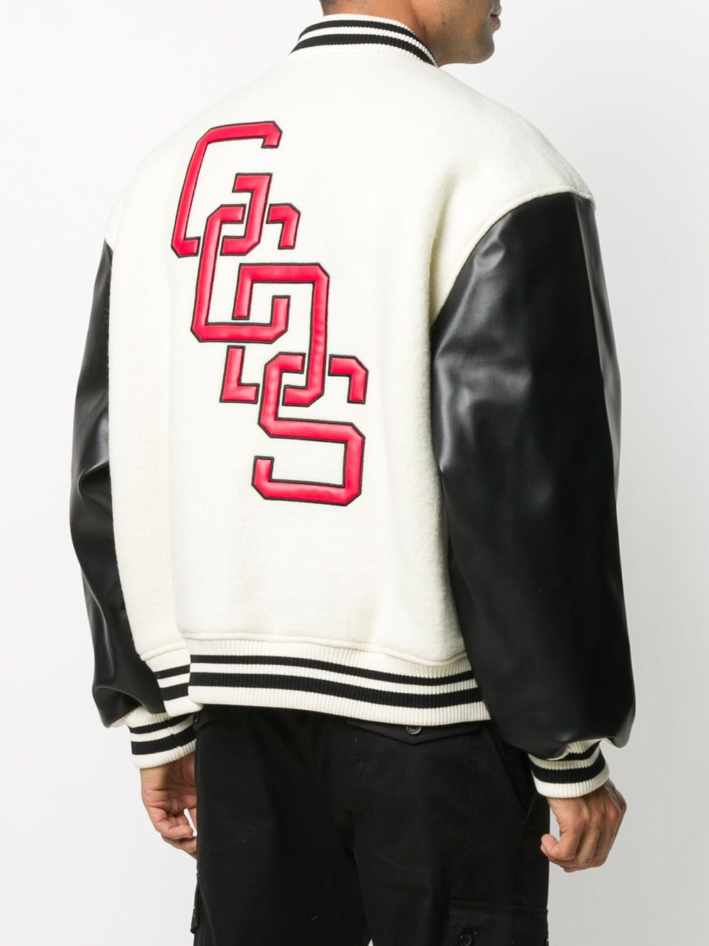 Picture of Gcds | Embroidered Logo Striped Edge Bomber Jacket