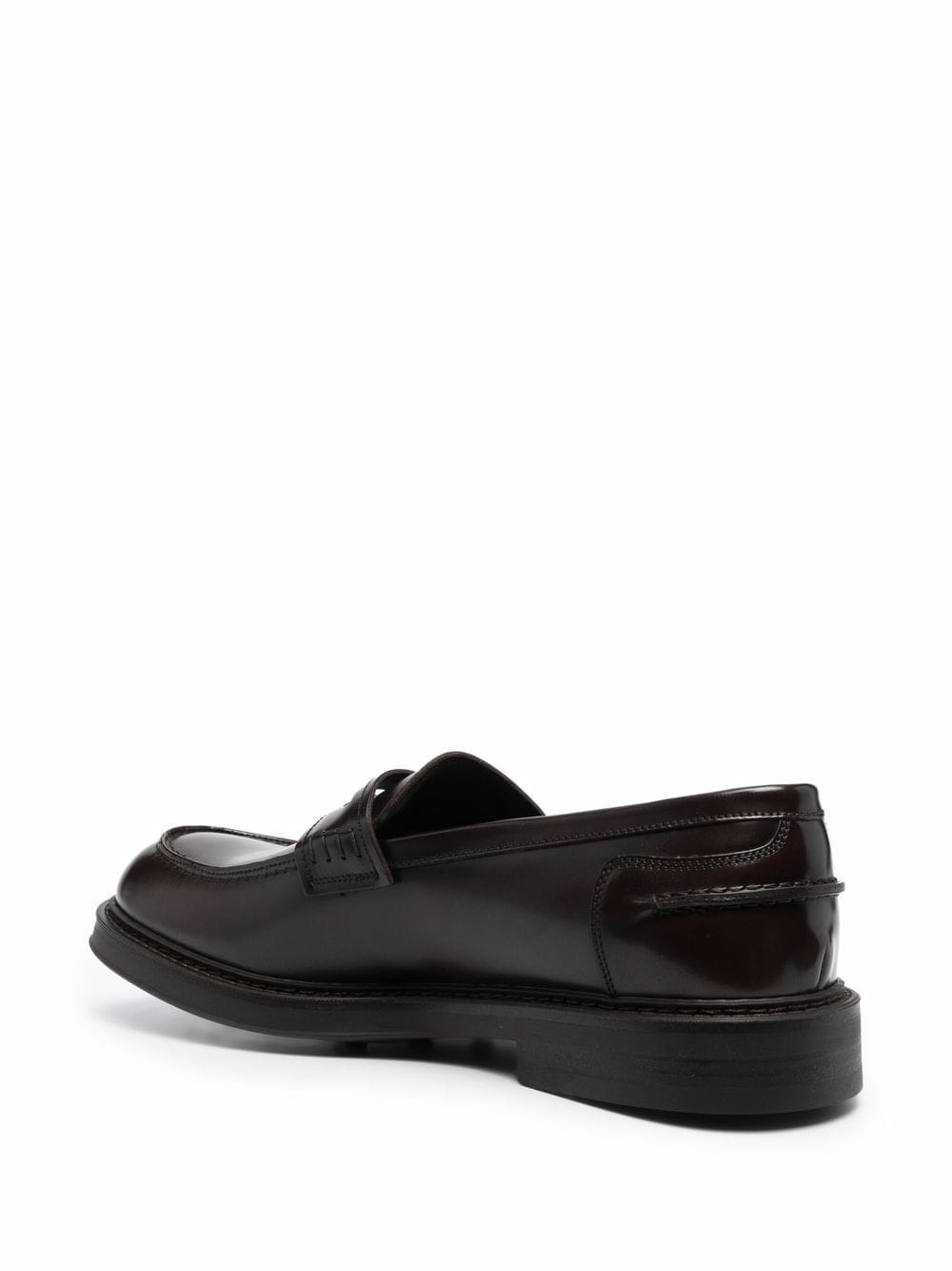 Picture of Doucal`S   Leather Penny Loafers