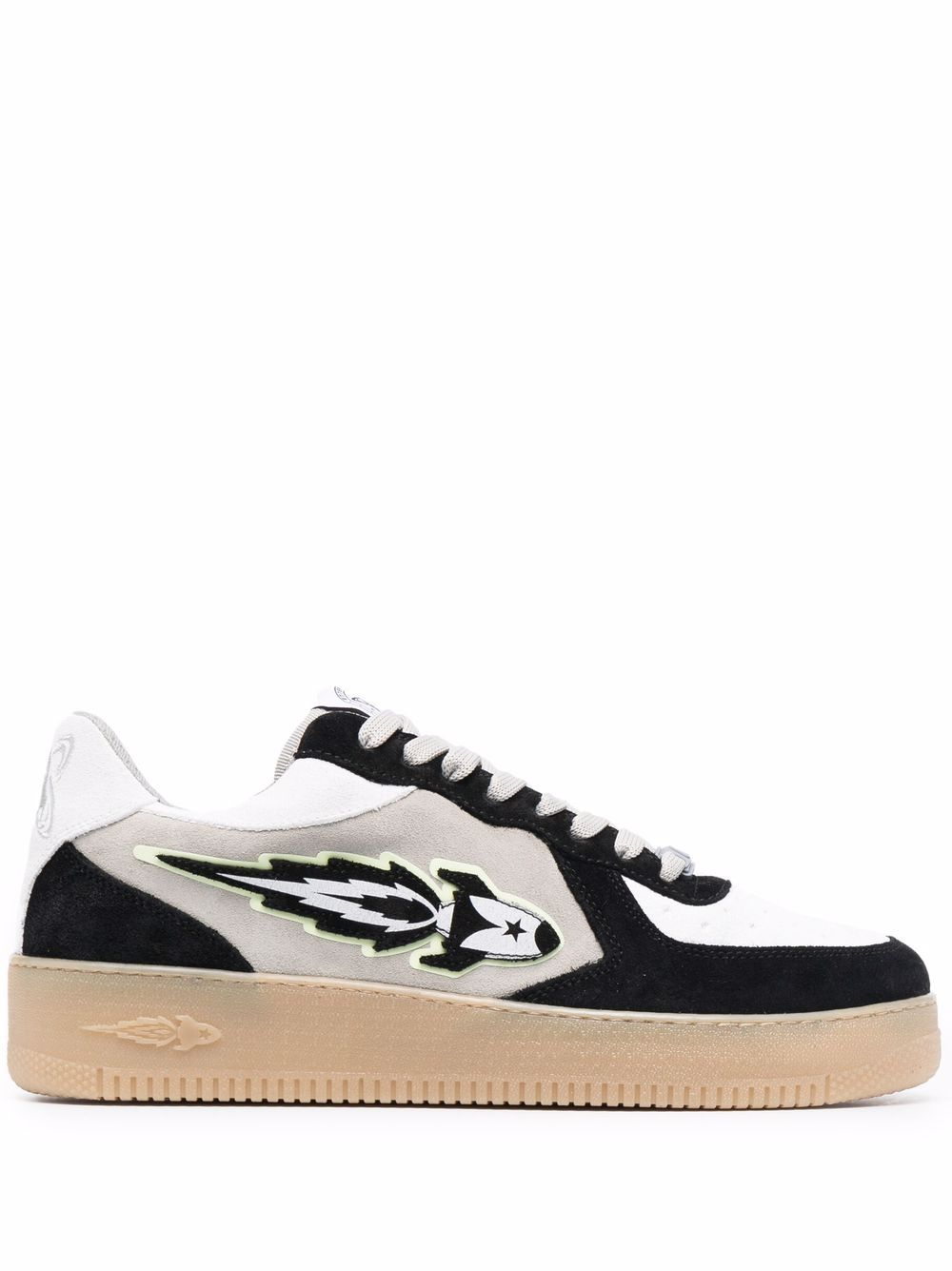 Picture of Enterprise Japan   Rocket Patch Lace-Up Sneakers