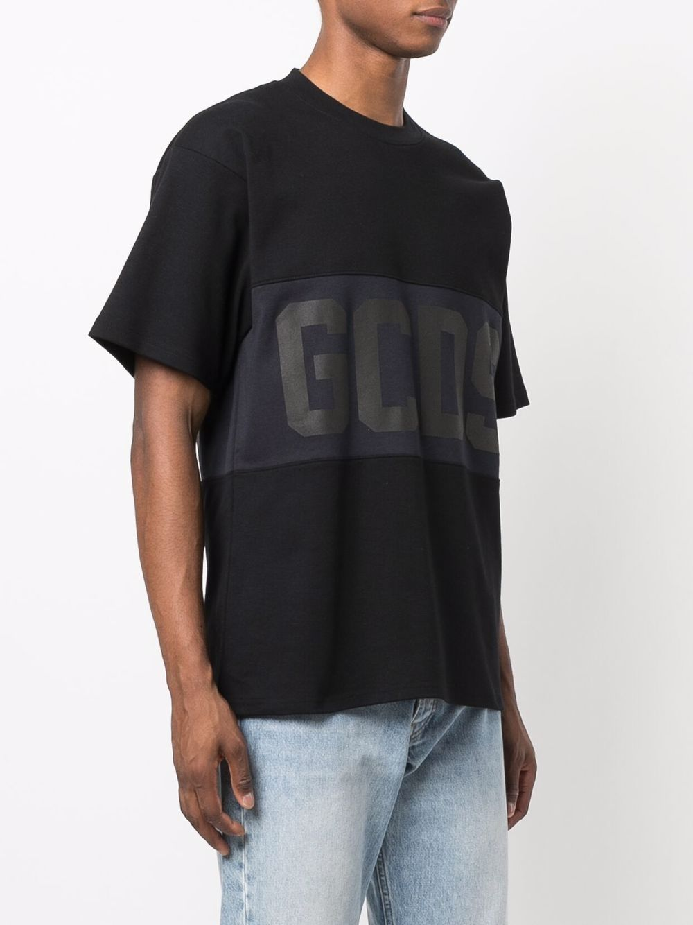 Picture of Gcds | Logo-Print Panelled T-Shirt