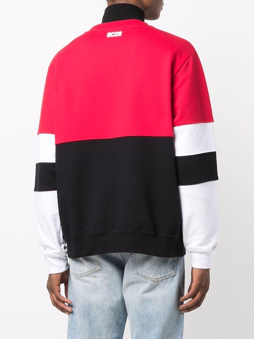 Picture of Gcds   Colour-Block Logo-Print Sweatshirt