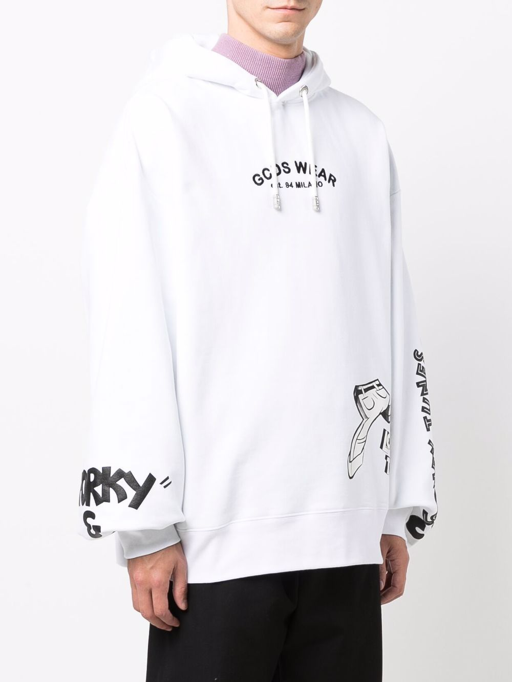 Picture of Gcds | Graphic-Print Hoodie