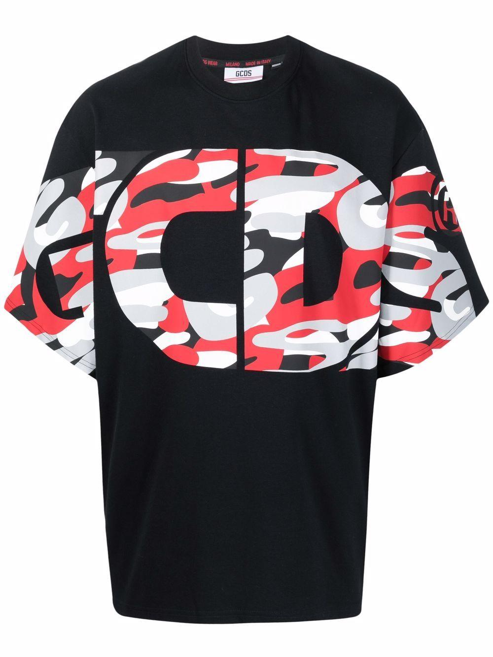 Picture of Gcds | Logo-Print Cotton T-Shirt