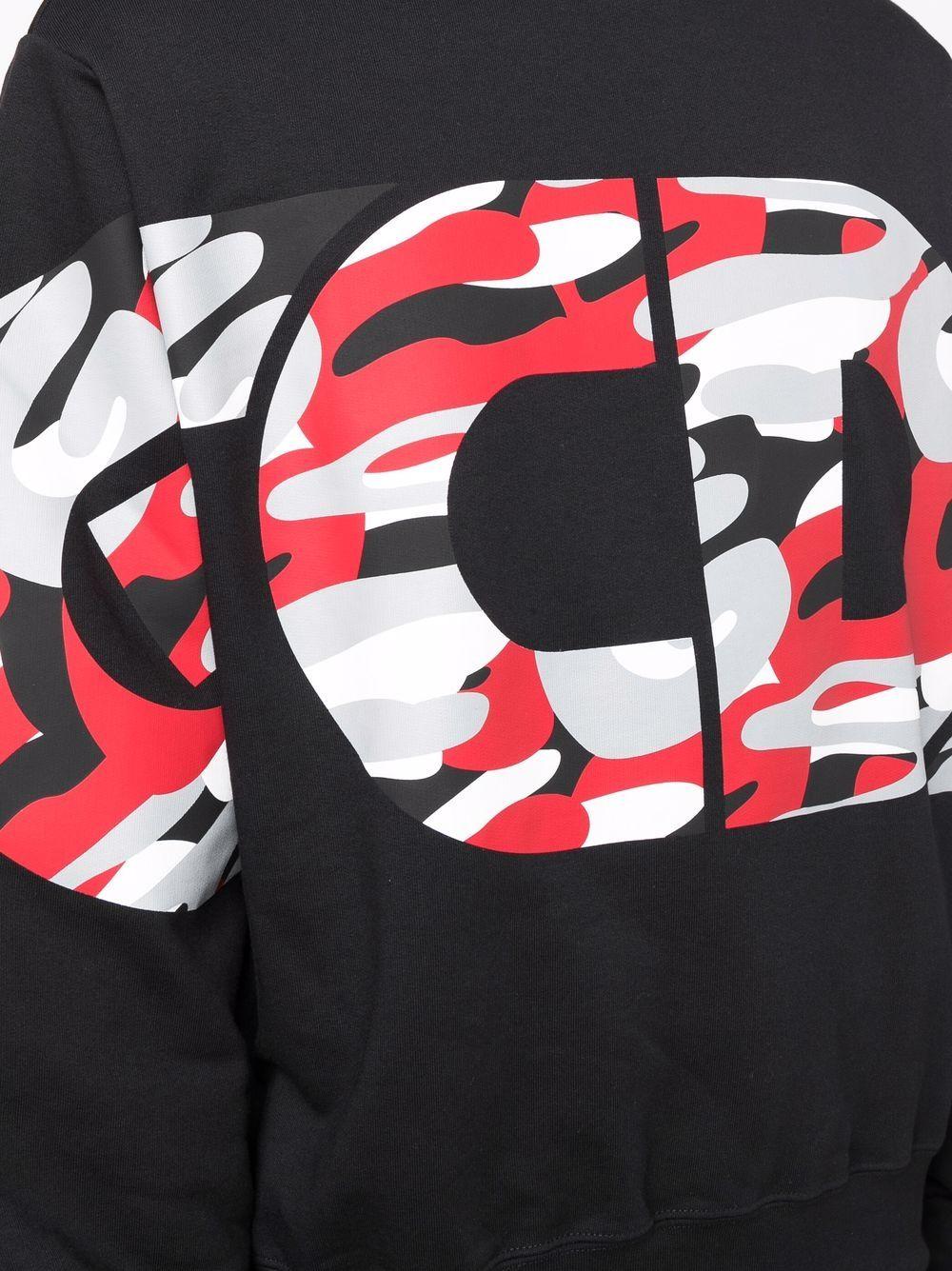 Picture of Gcds   Logo-Print Camouflage Sweatshirt