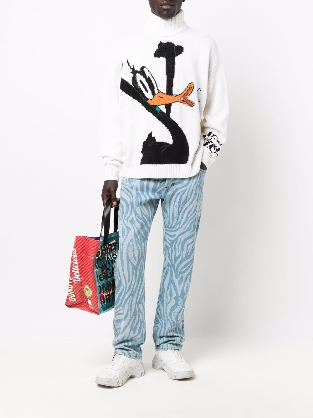 Picture of Gcds | Daffy Duck Roll-Neck Jumper