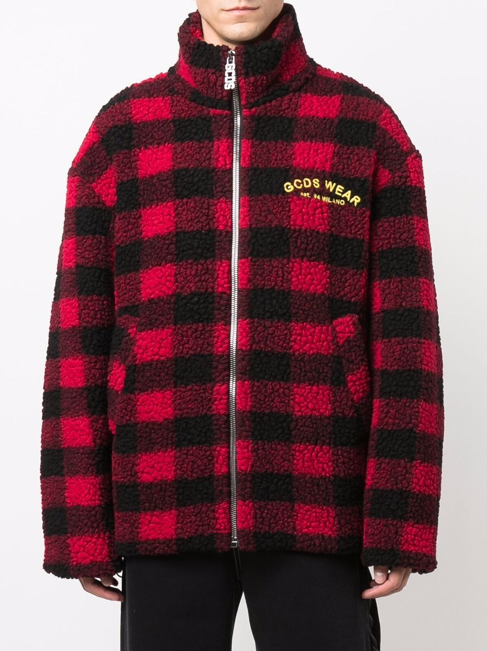 Picture of Gcds   Looney Tunes Checked Fleece Jacket