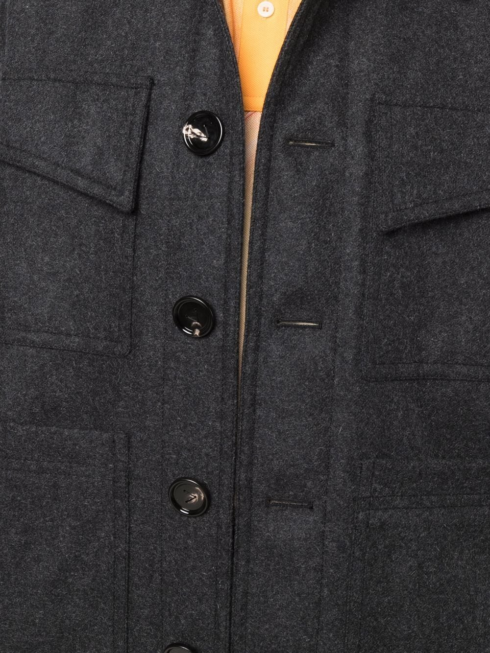 Picture of Bottega Veneta | Button-Up Tailored Wool Coat