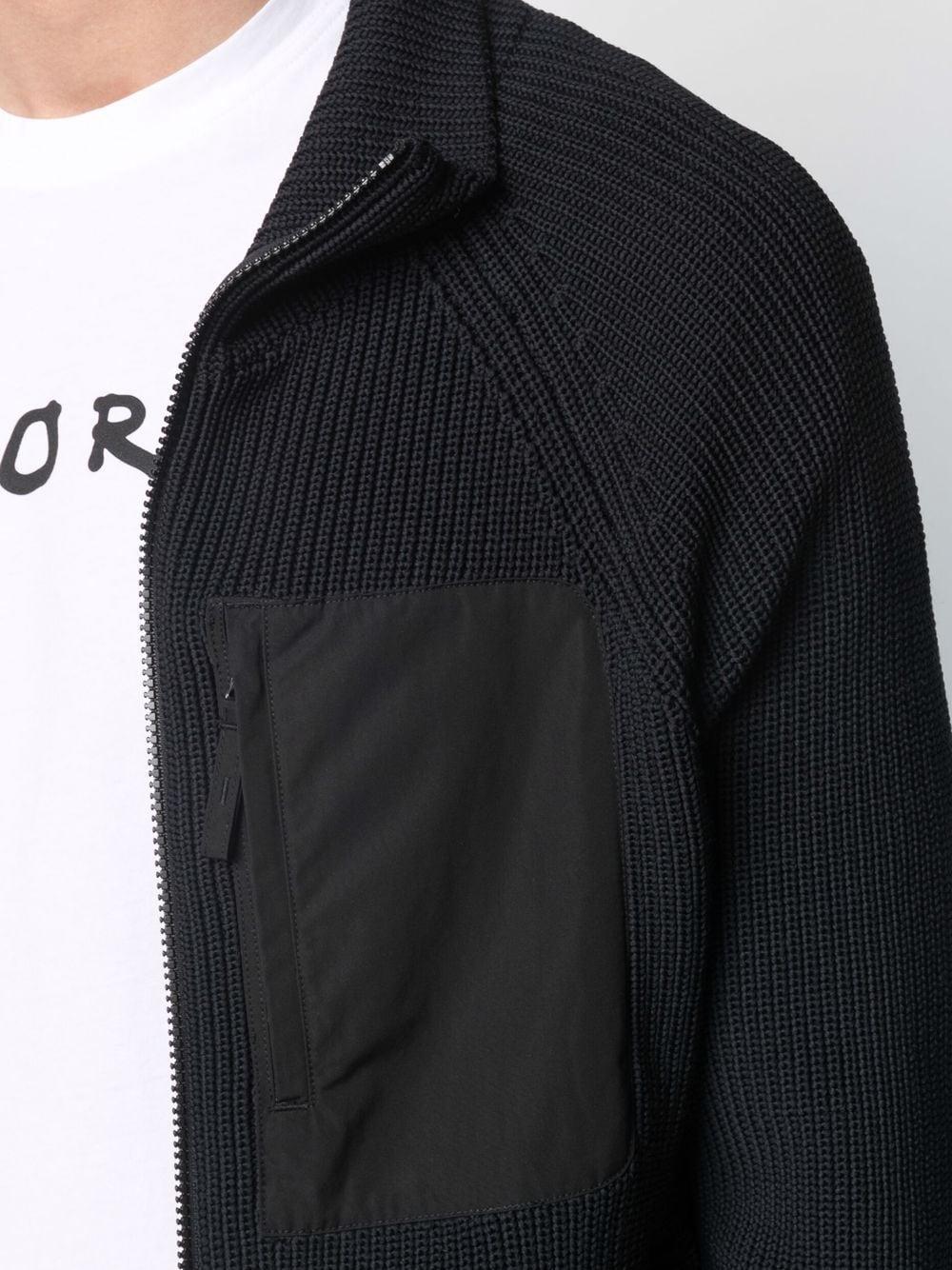 Picture of Aspesi | Purl-Knit Zipped Cardigan