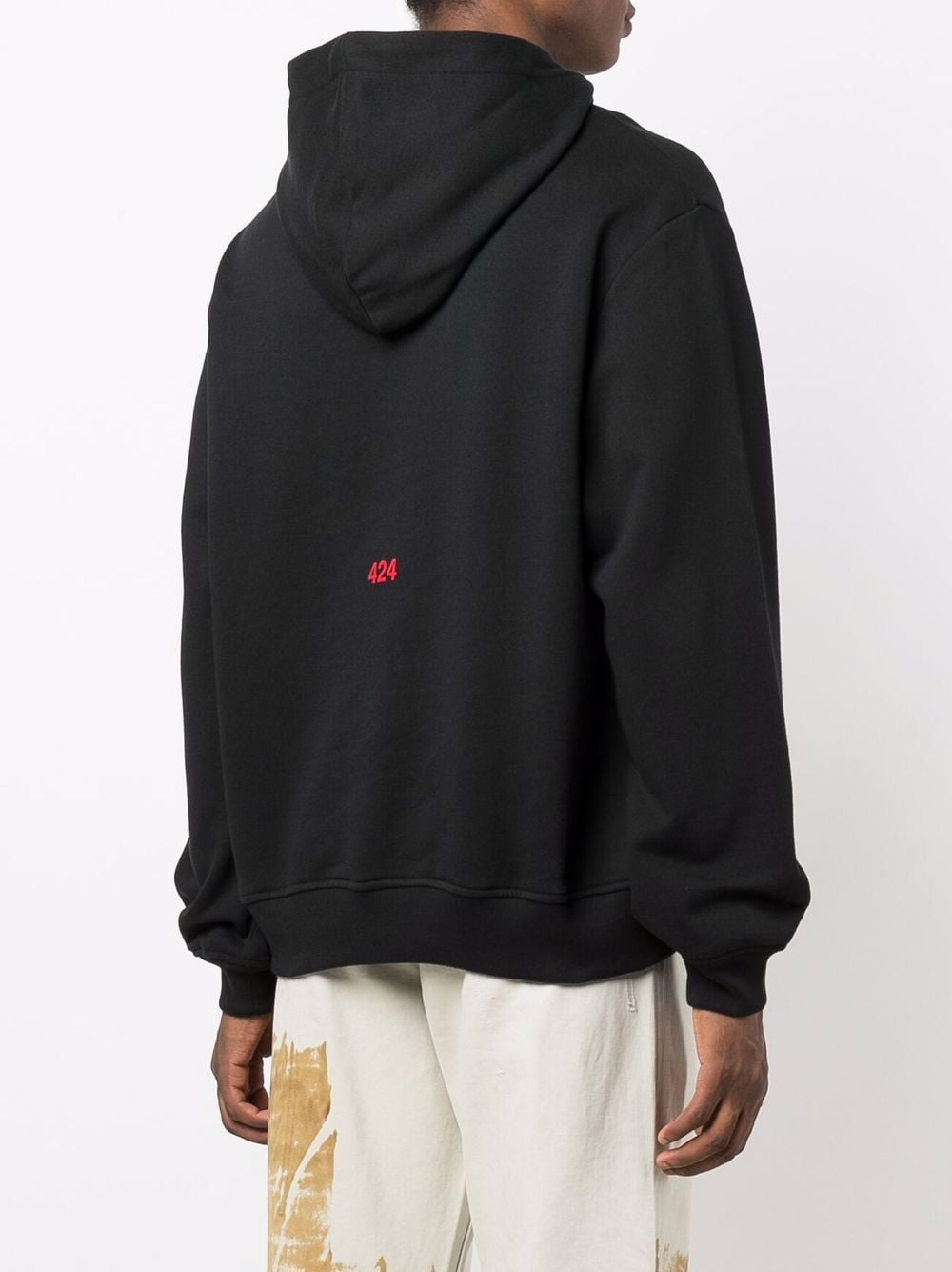 Picture of 424   Slogan-Print Cotton Hoodie