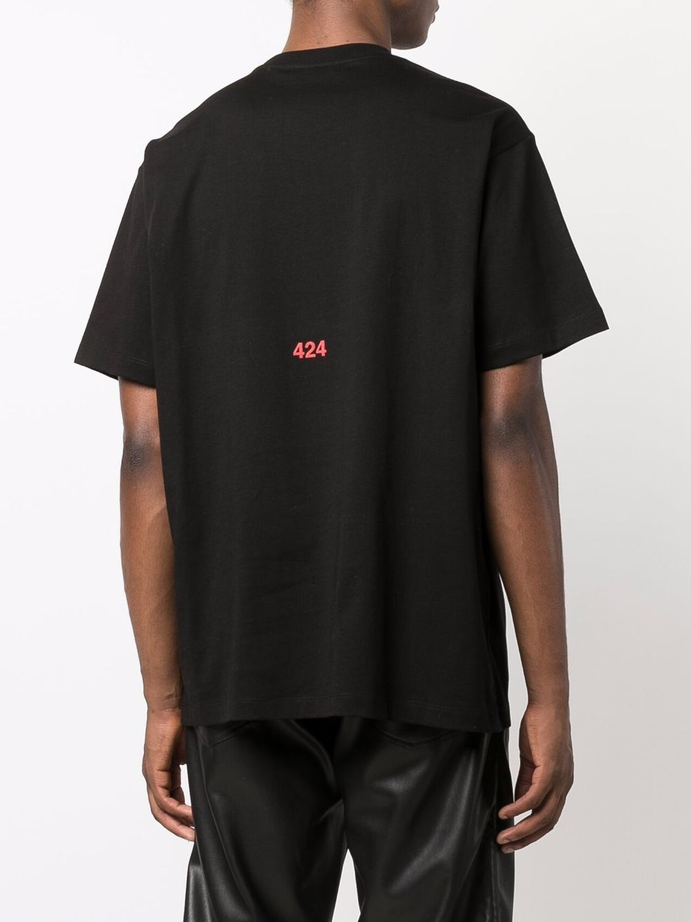 Picture of 424 | Slogan-Print Cotton T-Shirt