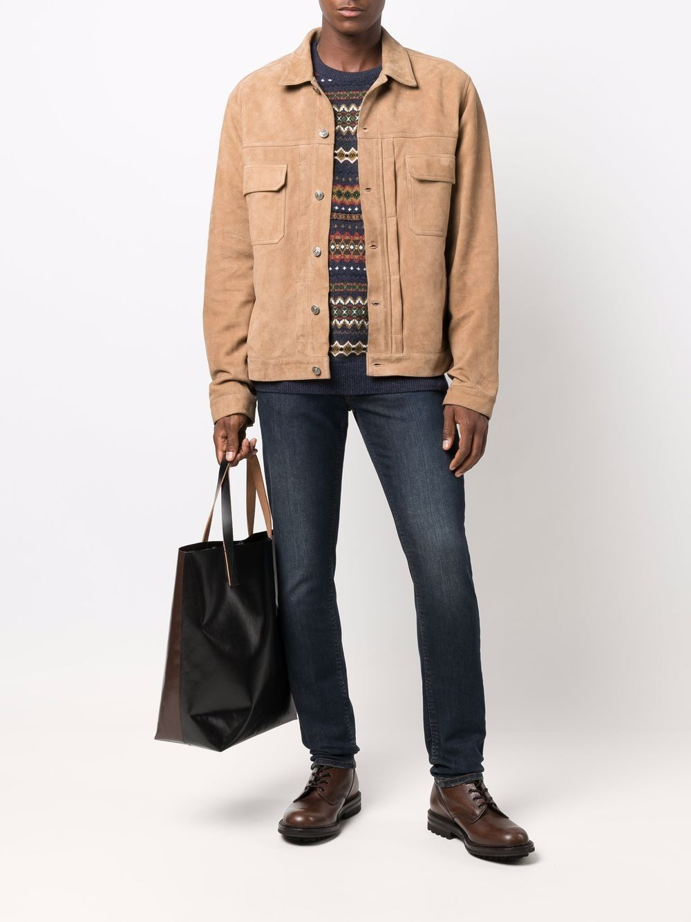 Picture of 424   Button-Up Leather Jacket