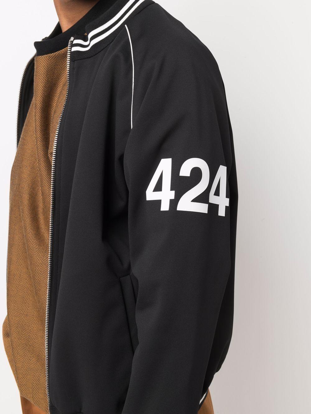Picture of 424   Logo Sleeve Bomber Jacket