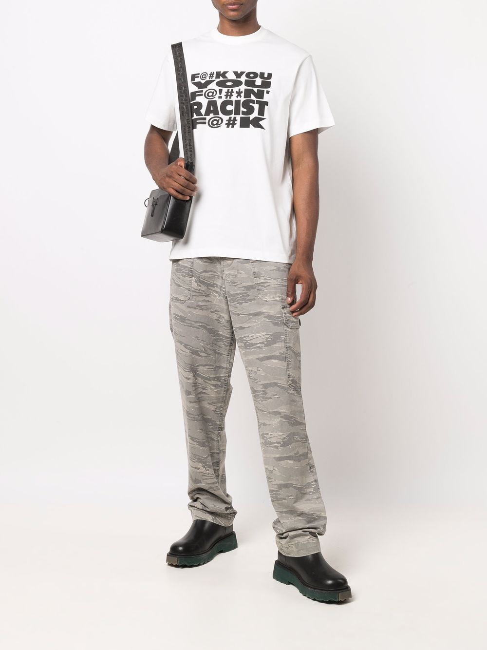 Picture of 424   Text-Print Crew-Neck T-Shirt