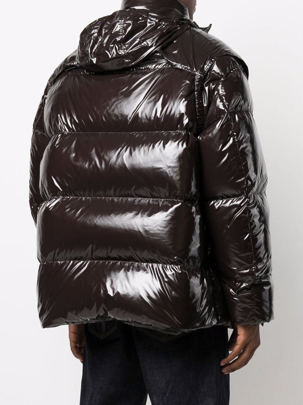 Picture of Bottega Veneta   Padded Zip-Up Coat