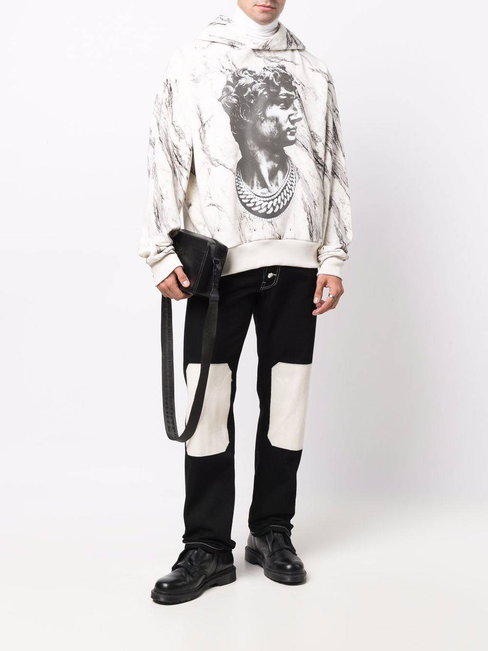 Picture of Ih Nom Uh Nit   Marble-Effect David Statue Hoodie