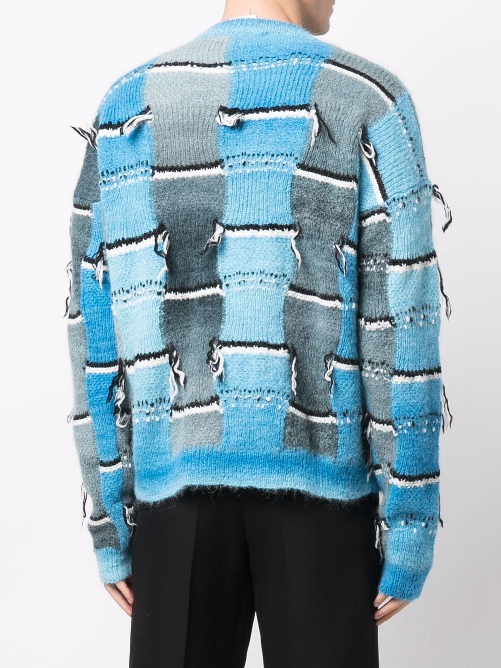 Picture of Marni | Distressed-Effect Crew-Neck Jumper