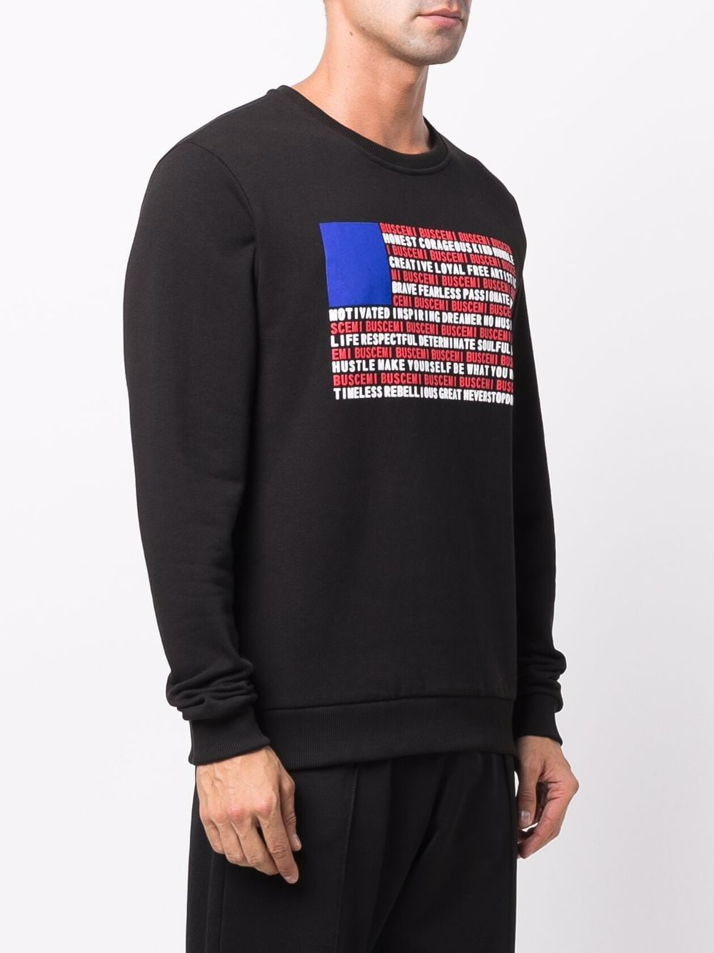 Picture of Buscemi | Flag Text Sweatshirt