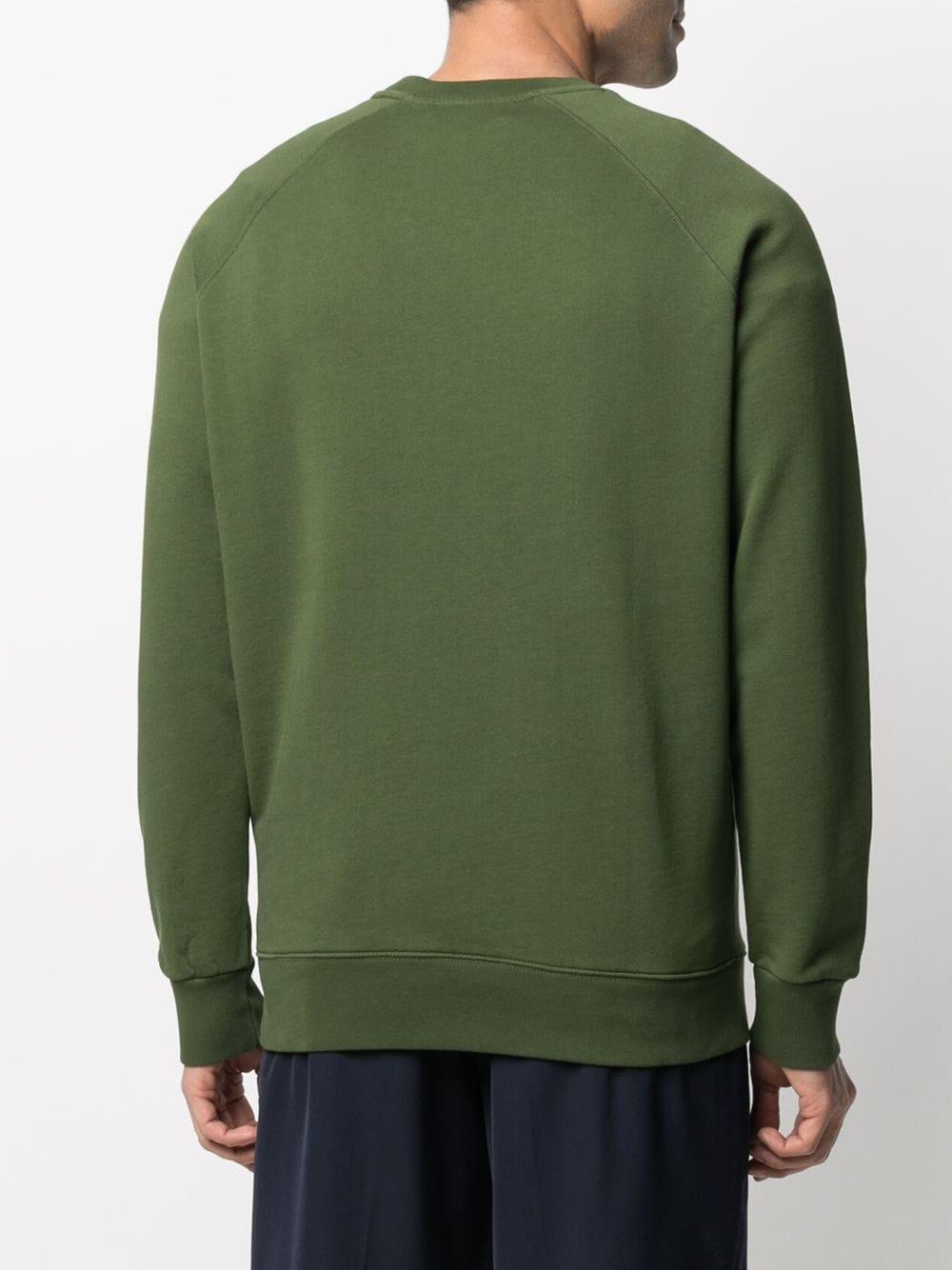 Picture of Maison Kitsune` | Logo-Print Cotton Sweatshirt