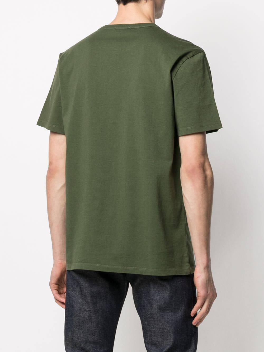 Picture of Maison Kitsune` | Logo-Print Cotton T-Shirt