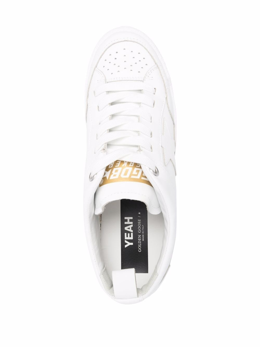 Picture of Golden Goose Deluxe Brand   Yeah! Star Leather Sneakers