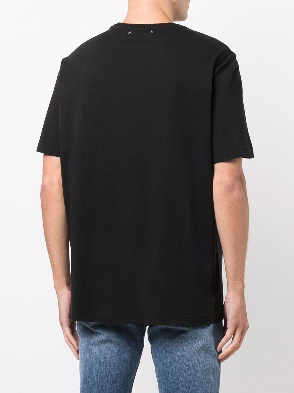 Picture of Golden Goose Deluxe Brand | Logo-Print Short-Sleeved T-Shirt