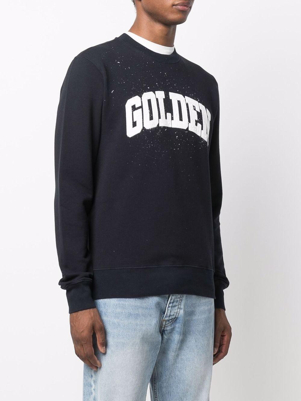 Picture of Golden Goose Deluxe Brand   Archibald Logo Cotton Sweatshirt
