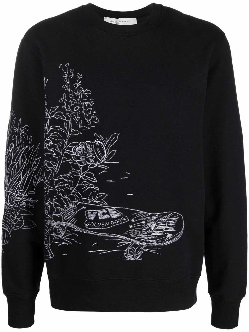 Picture of Golden Goose Deluxe Brand | Skateboard Print Cotton Jumper