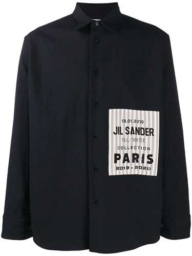Picture of Jil Sander | Striped Logo Patch Shirt