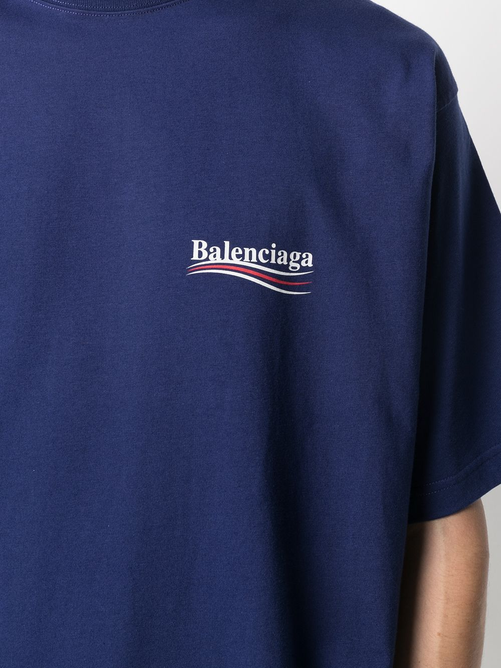 Picture of Balenciaga | Printed Logo Oversized T-Shirt