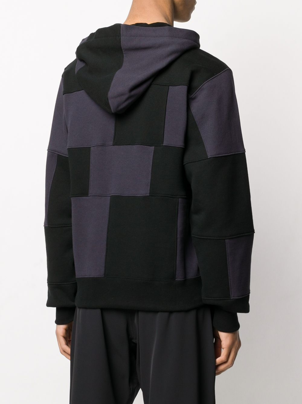 Picture of Ambush | Block Panelled Cotton Hoodie