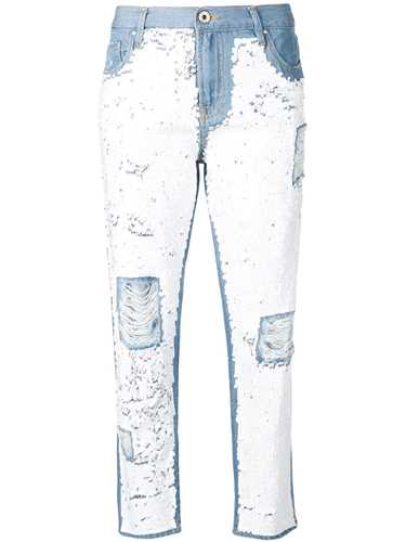 Picture of Don`T Cry Milan | Distressed Slim-Jeans With Sequins