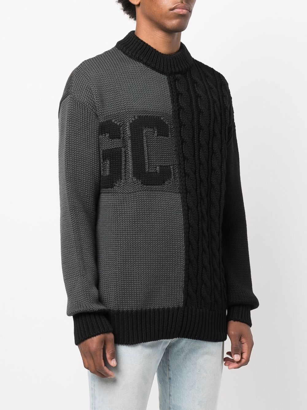Picture of Gcds   Logo Cable-Knit Jumper