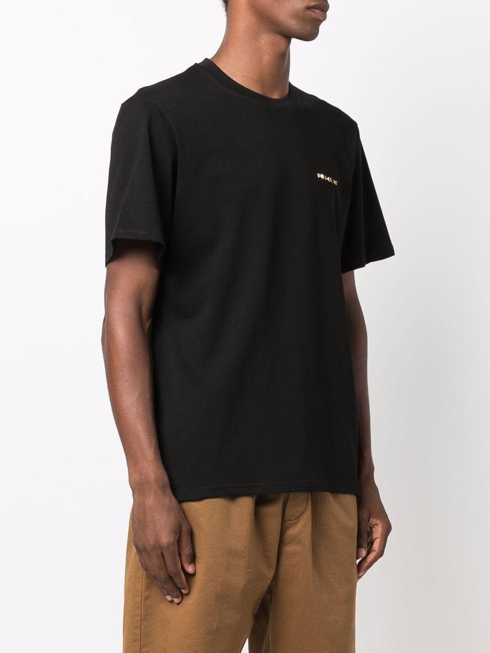 Picture of Buscemi | Raised Logo Cotton T-Shirt