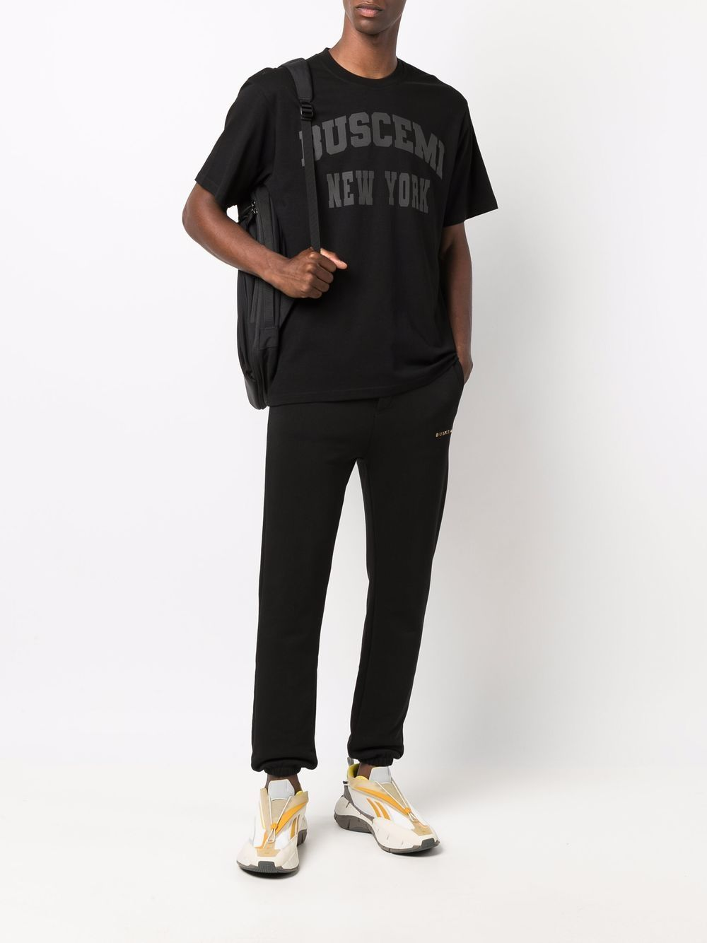 Picture of Buscemi   Raised Logo Track Pants