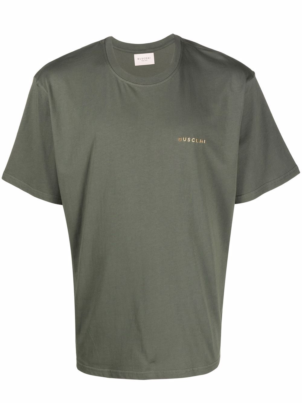 Picture of Buscemi   Raised Logo Cotton T-Shirt