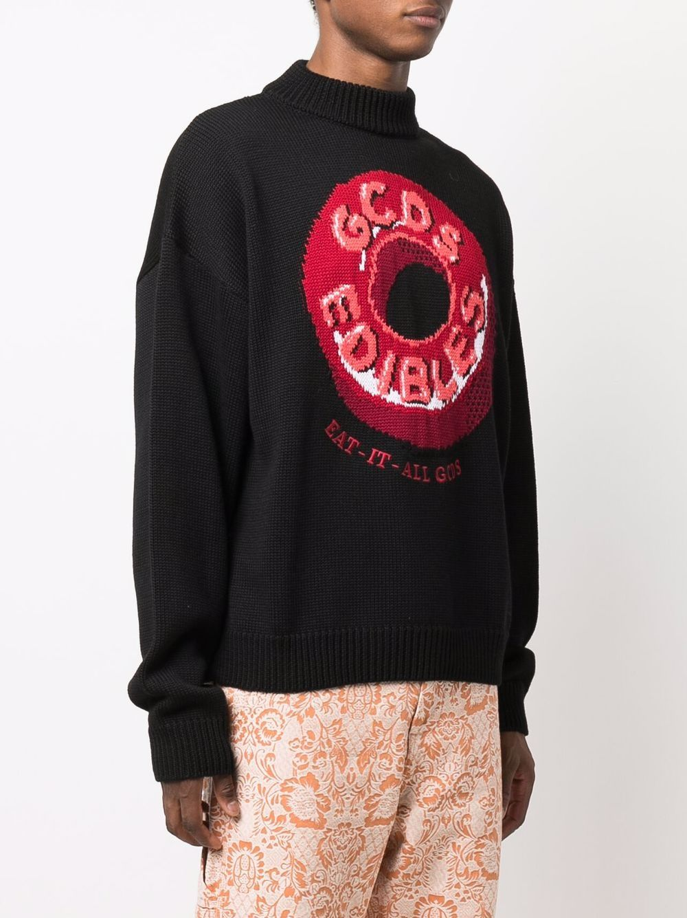 Picture of Gcds   Candy-Print Roll Neck Jumper